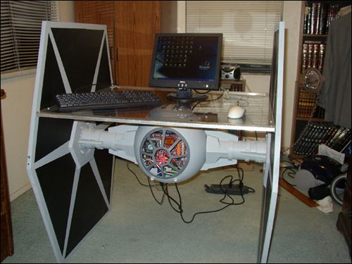 7. TIE Fighter Desk Case